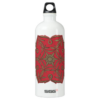 Red Mandala Namaste Water Bottle