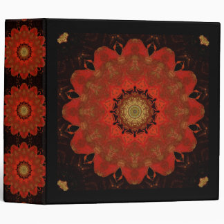 Red Mandala On Black Binder