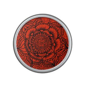Red Mandala Bluetooth Speaker