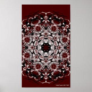 Red Mandala Poster