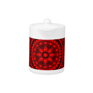 Red mandala teapot