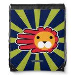 Hand shaped Red Maned Lion Drawstring Bag