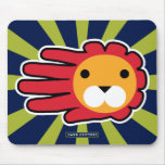 Hand shaped Red Maned Lion Mouse Pad
