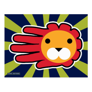 Red Maned Lion Postcard