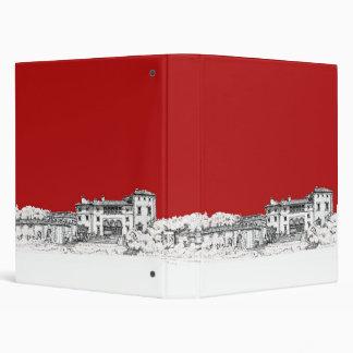 Red mansion building binder