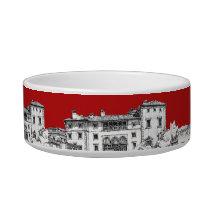 Red mansion building bowl