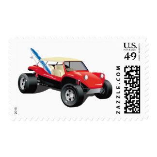 Red Manxter Postage Stamp