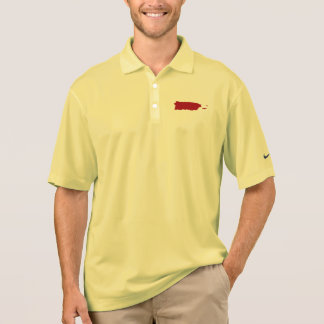 Red Map of Puerto Rico Polo Shirt