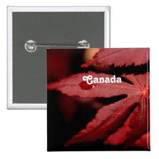 Red Maple 2 Inch Square Button