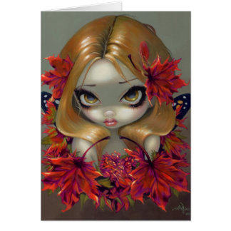 """""""Red Maple Fairy"""" Greeting Card"""