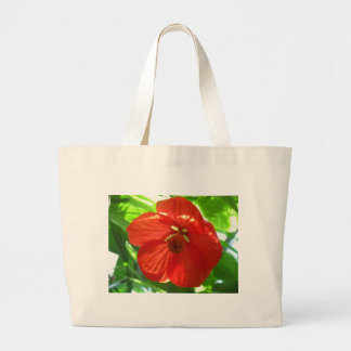 red maple flower canvas bag