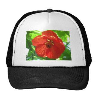 red maple flower trucker hat