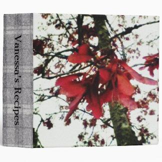 Red Maple Keys Botanical Lg. Recipe Cookbook Binder