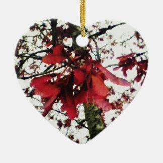 Red Maple Keys Botanical Natural Ceramic Ornament