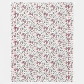 Red Maple Keys Botanical Natural Fleece Blanket
