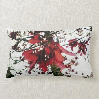 Red Maple Keys Botanical Natural Throw Pillow