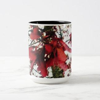 Red Maple Keys Botanical Natural Two-Tone Coffee Mug