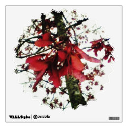 Red Maple Keys Botanical Natural Wall Sticker