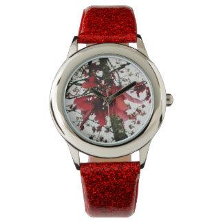 Red Maple Keys Botanical Natural Wrist Watch