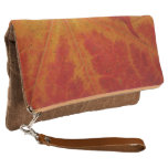 Red Maple Leaf Abstract Autumn Nature Photography Clutch