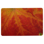 Red Maple Leaf Abstract Autumn Nature Photography Floor Mat