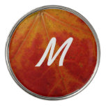 Red Maple Leaf Abstract Autumn Nature Photography Golf Ball Marker