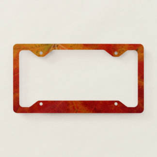 Red Maple Leaf Abstract Autumn Nature Photography License Plate Frame