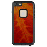Red Maple Leaf Abstract Autumn Nature Photography LifeProof FRĒ iPhone 6/6s Plus Case