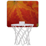 Red Maple Leaf Abstract Autumn Nature Photography Mini Basketball Hoop