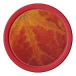 Red Maple Leaf Abstract Autumn Nature Photography Poker Chips