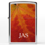 Red Maple Leaf Abstract Autumn Nature Photography Zippo Lighter