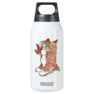 Red Maple Leaf and Brown Tiger Kitten SIGG Thermo 0.3L Insulated Bottle