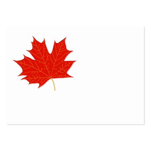 Red maple leaf large business cards pack of 100 zazzle for Leaf business cards