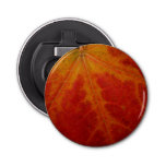 Red Maple Leaf Button Bottle Opener