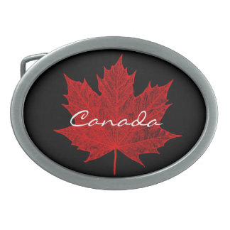 Red Maple Leaf- Canada Belt Buckle