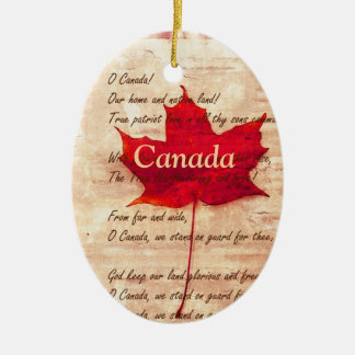 Red maple leaf  -  Canada Ceramic Ornament