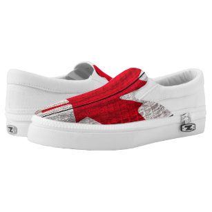1b3de5d3937a red maple leaf canadian flag Slip-On sneakers
