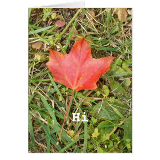 Red Maple Leaf Card