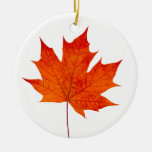 Red maple leaf christmas tree ornaments