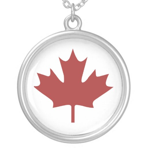 Red Maple Leaf Custom Necklace