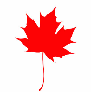 Red maple leaf cutout