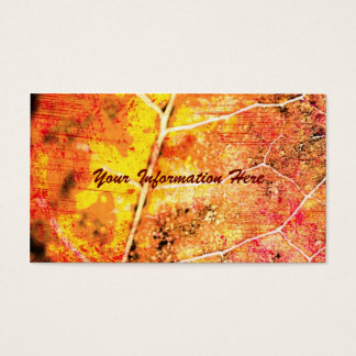 Red Maple Leaf Grunge Business Cards