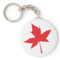 Red Maple Leaf Keychain