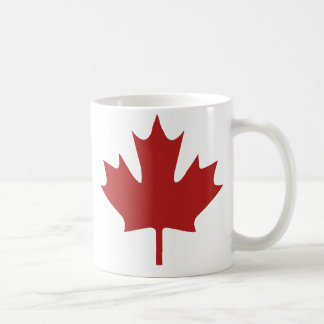 Red Maple Leaf Classic White Coffee Mug