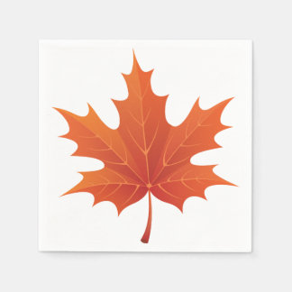 Red Maple Leaf Napkin