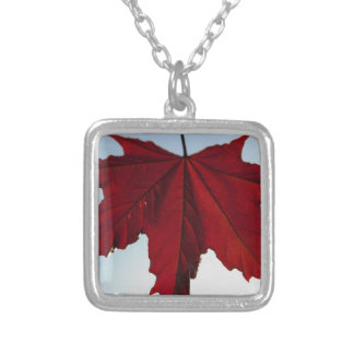 Red Maple Leaf Personalized Necklace
