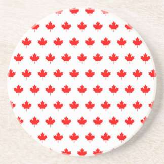 Red Maple Leaf Pattern Drink Coaster