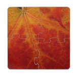 Red Maple Leaf Puzzle Coaster