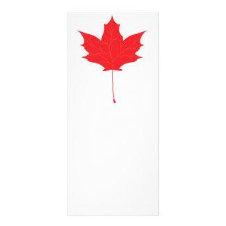 Red maple leaf rack card