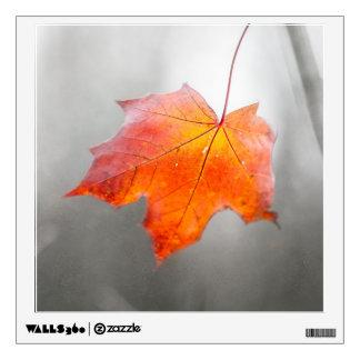 Red Maple Leaf - Velvet Autumn Wall Sticker